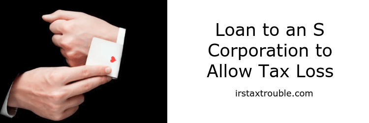 s corporation tax loss loans