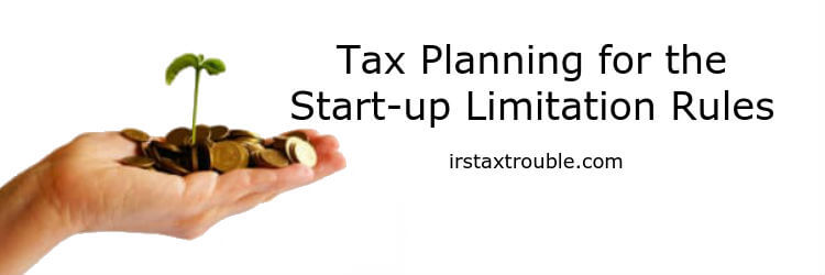 start up company tax planning rules