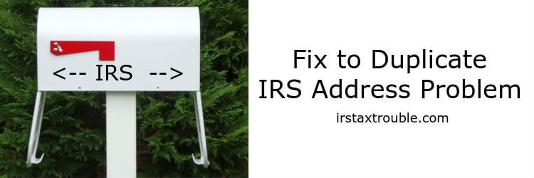 houston tax attorney IRS double mail addresses